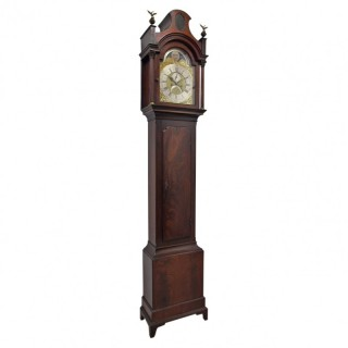George III Grandfather Clock by Thomas Hutchison of Leeds