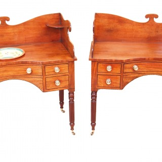 Rare Regency Mahogany Pair Of Dressing Tables