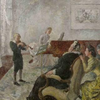 'The Recital' by  Steven Spurrier RA RBA ROI (1878-1961)
