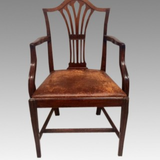 18th century Hepplewhite mahogany armchair.