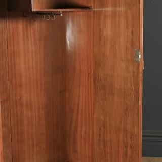 Antique Scottish Art Deco Burr Walnut Two Door Armoire Wardrobe (Circa 1930)
