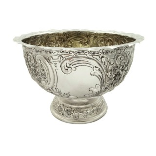 Antique Edwardian Sterling Silver Presentation Bowl 1903