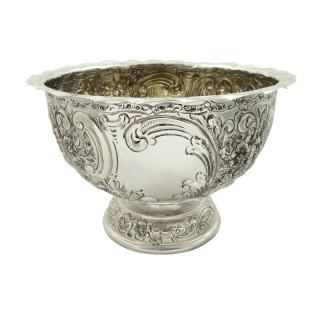 Antique Edwardian Sterling Silver Presentation Bowl 1903