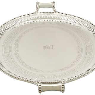 Sterling Silver Tea Tray - Antique Victorian (1850)