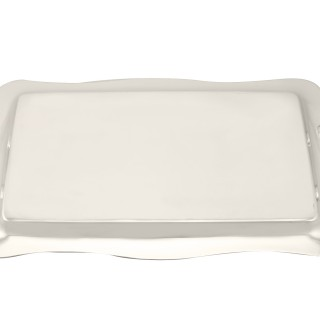 Sterling Silver Drinks Tray - Antique George V (1929)