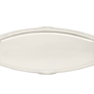 Sterling Silver Drinks Tray - Art Deco Style - Vintage George VI (1949)