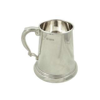 Vintage Sterling Silver Pint Tankard / Mug 1965