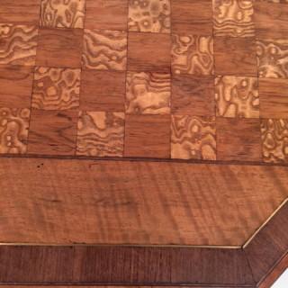 Regency octagonal mahogany games table.