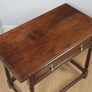 Antique English 19th Century George III Oak Occasional Side Hall Writing Table (Circa 1820)