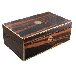 Victorian Coromandel Wood Writing Box