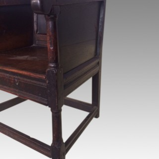 Small 17th century Welsh oak armchair.