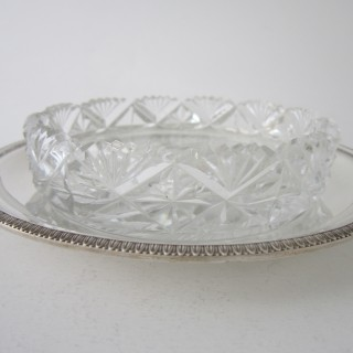 Antique George VI Sterling silver butter dish