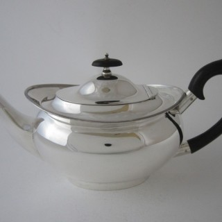 Antique George V Sterling silver teapot