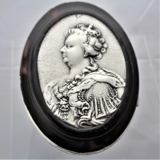 George I silver and tortoiseshell box C1720 Queen Anne