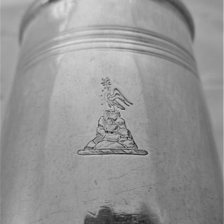 Crested Queen Anne Britannia silver mug London 1712 Timbrell & Bell