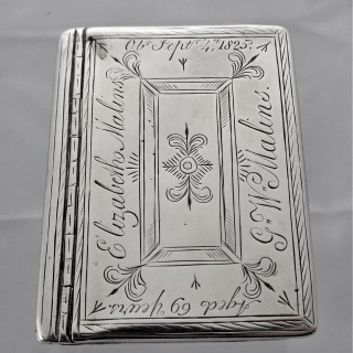 George I silver box C1720 Edward Hall - Malin family