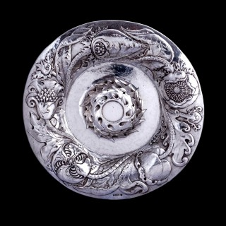 A massive Connell of Cheapside silver rose water dish