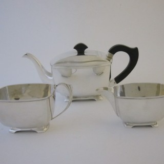 Art Deco George VI Sterling silver tea set