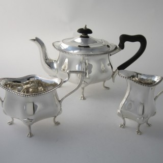 Antique Edwardian Sterling silver tea set