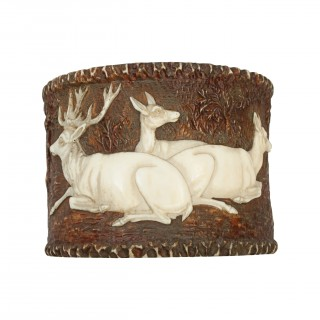 Black Forest Stag Horn Napkin Ring