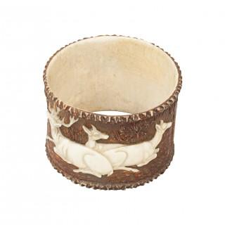Black Forest Stag Horn Napkin Ring