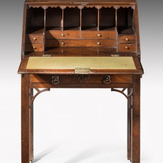 George III Period Bureau on Stand with Original Ring Drop Handles