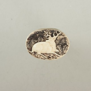 Vintage Black Forrest Antler Wax Seal Stamp