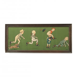 Cecil Aldin Nursery Frieze, Leap Frog