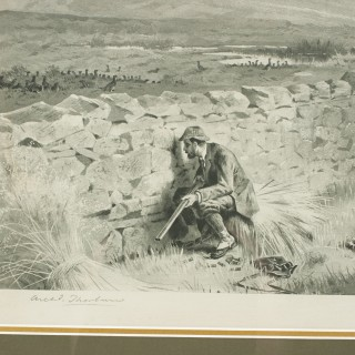 Archibald Thorburn Grouse Shooting Photogravure, Patience.