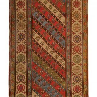 Rare Antique Caucasian Shirvan Flat-woven Rug  109x279cm