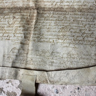 A 16thC Scottish Charter of Sale Document by Henry Eldar c.1575