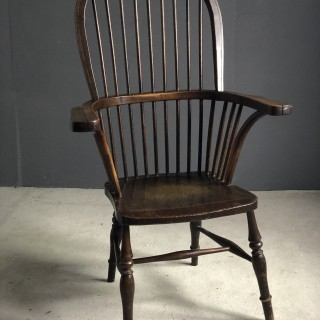 Large ash and elm stick back Windsor Chair