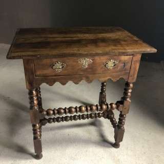 18th Century Side Table in Fruitwood