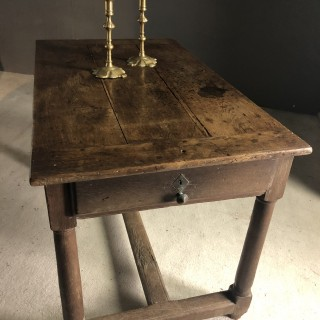 French Oak Table Late 17th Century