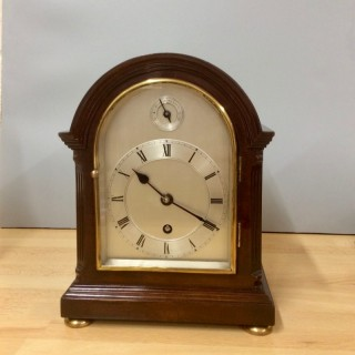 Edwardian Arch Top Mahogany Mantel Clock