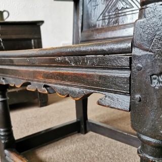 An Early 17th Century Wainscot Chair