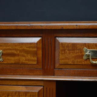 Late Victorian Mahogany Desk by Jas. Schoolbred