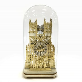 Quarter-chiming Westminster Abbey Skeleton Clock
