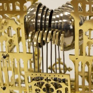 Quarter-chiming Westminster Abbey Skeleton Clock