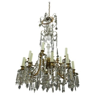 French Ormolu and Crystal Chandelier