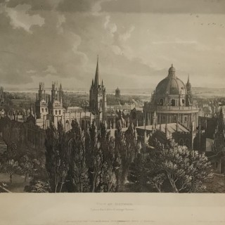 Ackerman Framed View of Oxford 1814
