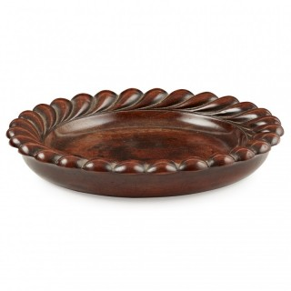 William IV Circular Mahogany Wine Coaster