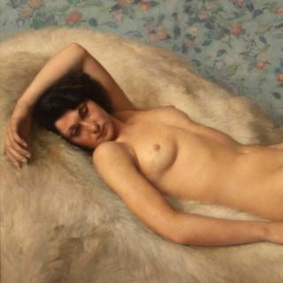 A Reclining Nude Painting by Paul Sieffert (1874-1957)