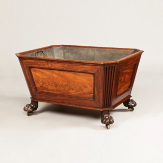 A Fine Quality Mahogany Open Top George III Wine Cooler