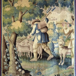 A 17th century  Aubusson tapestry panel
