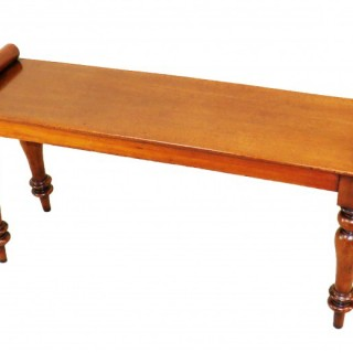 19th Century Mahogany Window Seat Hall Bench
