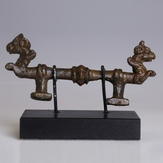 Near Eastern Mirror Handle with Griffins