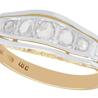 0.51 ct Diamond and 18 ct Yellow Gold, 18 ct White Gold Set Five Stone Dress Ring - Antique Circa 1920