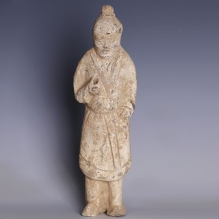 Tang Dynasty Court Attendant Statuette