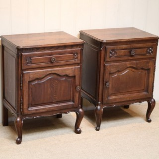 Pair Of Oak Bedside Cabinets
